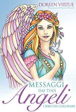 messaggi angeli da colorare