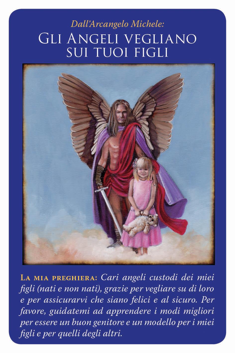 carte arcangelo michele - gli angeli vegliano sui tuoi figli