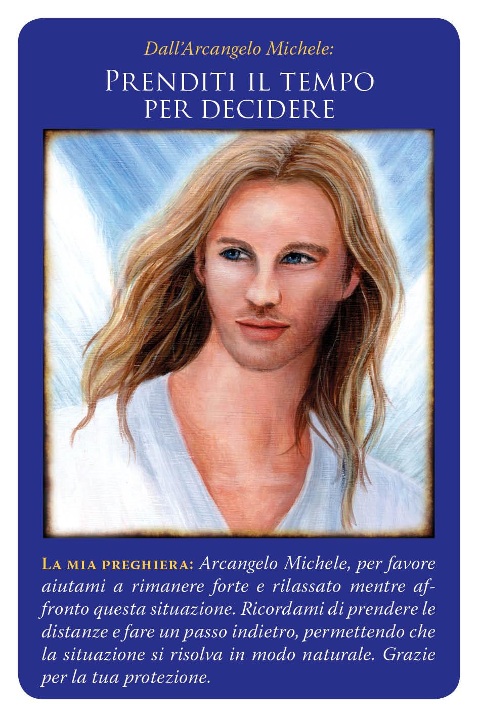 carte arcangelo michele - prenditi il tempo per decidere